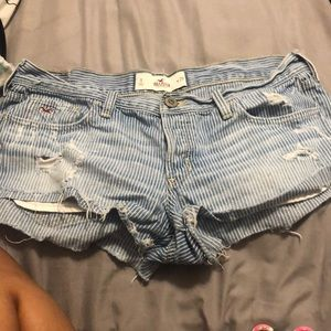 Hollister Jean Pin Striped Shorts